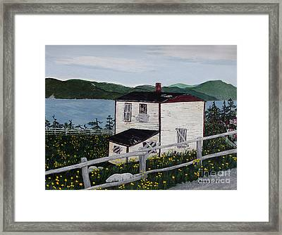 Framed Print featuring the painting Old House - If Walls Could Talk by Barbara Griffin