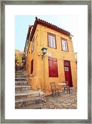 Old House In Athens Framed Print by Aiolos Greek Collections