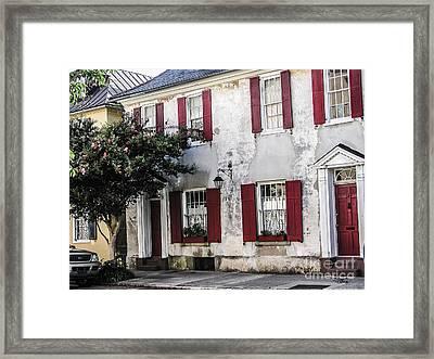 Old House In Charleston South Carolina Framed Print