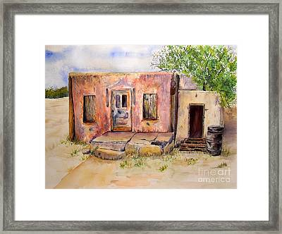 Old House In Clovis Nm Framed Print by Vicki  Housel