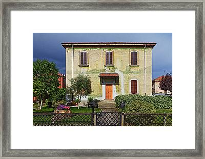 Old House In Crespi D'adda Framed Print