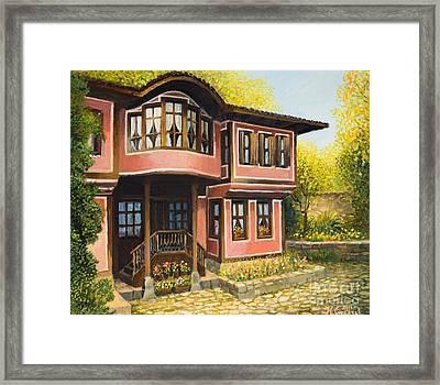 Old House In Koprivshtica Framed Print by Kiril Stanchev