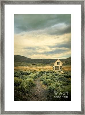 Old House In Sage Brush Framed Print by Jill Battaglia