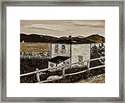 Old House In Sepia Framed Print