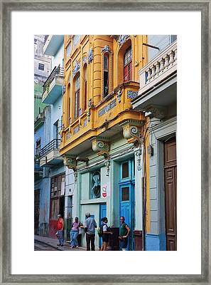 Old House In The Historic Center Framed Print by Keren Su