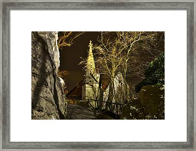 Old House With Tower Framed Print