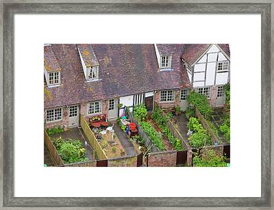 Old Houses And Back Gardens Framed Print