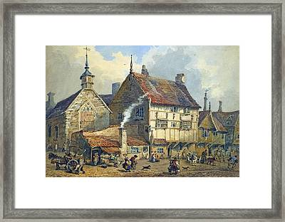 Old Houses And St Olaves Church Framed Print by George Shepherd