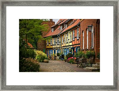 Old Houses At Johannes Kloster Stralsund Framed Print by David Davies