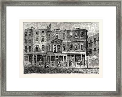 Old Houses In Fetter Lane West Side Near The Record Office Framed Print by English School