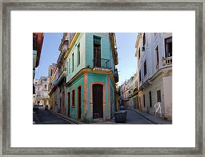 Old Houses In The Historic Center Framed Print by Keren Su