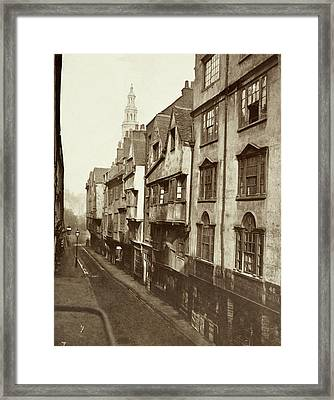 Old Houses In Wych Street. Framed Print