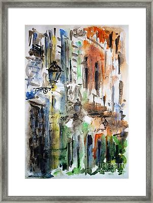 Old Houses Of San Juan Framed Print by Zaira Dzhaubaeva