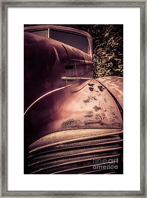 Old Hudson Car Framed Print by Edward Fielding