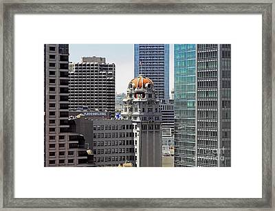 Framed Print featuring the photograph Old Humboldt Bank Building In San Francisco by Susan Wiedmann