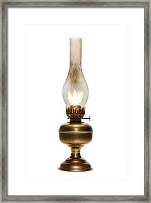 Old Hurricane Lamp Framed Print