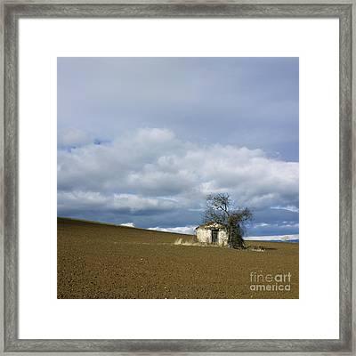 Old Hut. Auvergne. France Framed Print by Bernard Jaubert