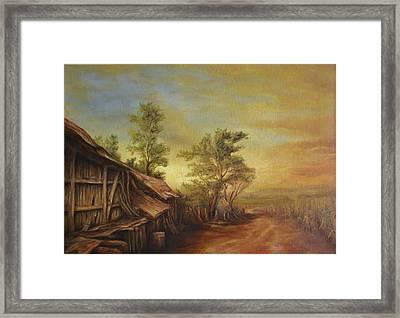 Old Hut From Turceni Framed Print