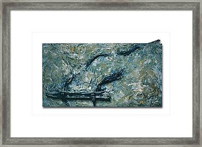 Old Ice Skate Framed Print