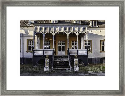 Old Inn At Korinth On Funen In Denmark Framed Print