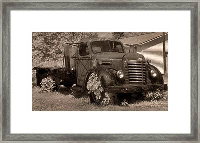 Old International Truck Framed Print