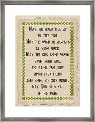 Old Irish Blessing Framed Print