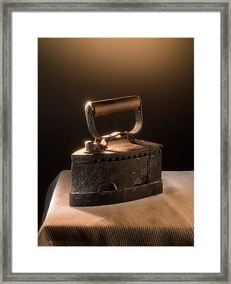 Old Iron Framed Print by Alain De Maximy