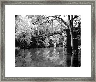 Old Iron Bridge Framed Print