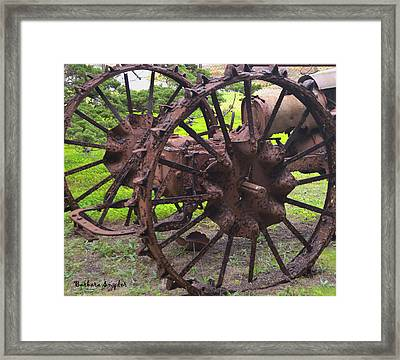 Old Iron Detail 2 Framed Print by Barbara Snyder