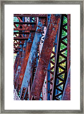 Old Iron Framed Print by Mary Jo Allen