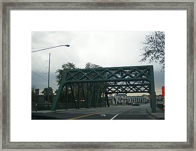Old Iron Bridge Framed Print by Rob Luzier