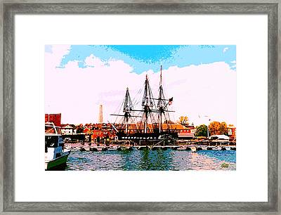 Old Ironsides Framed Print