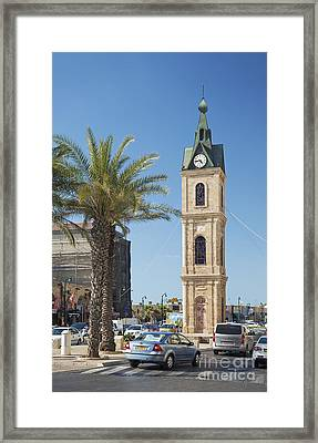 Old Jaffa Clocktower In Tel Aviv Israel Framed Print