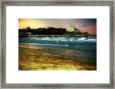 Old Jaffa In Storm 2 Framed Print by Isaac Silman