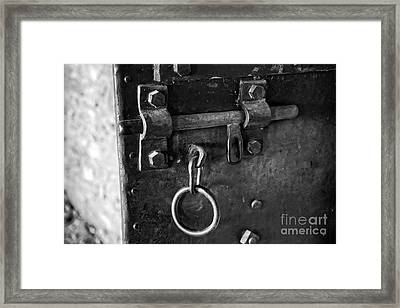 Old Jail Door Framed Print