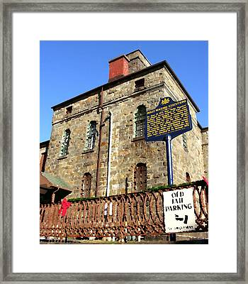 Old Jail In Jim Thorpe Pa Framed Print by Jacqueline M Lewis