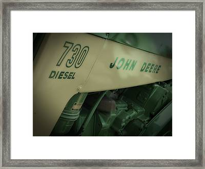 Old Jd Tractor Framed Print by Michael Allen