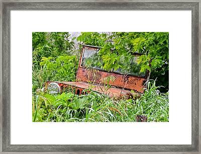 Old Jeep Framed Print