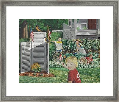 Old Jersey Framed Print by Carey MacDonald