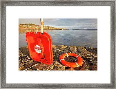 Old Jetty In Broadford Framed Print