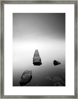 Old Jetty In The Mist Framed Print by Grant Glendinning