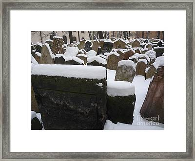 Framed Print featuring the photograph Old Jewish Cemetery by Deborah Smolinske