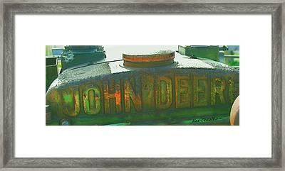 Old John Deere Logo Framed Print