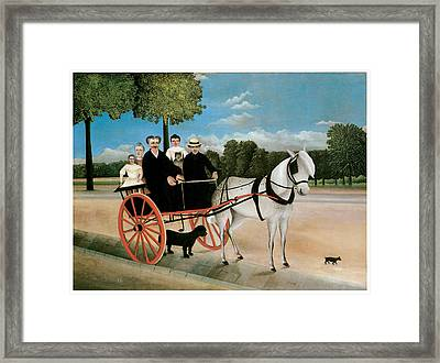 Old Junier's Cart Framed Print by Henri Rousseau