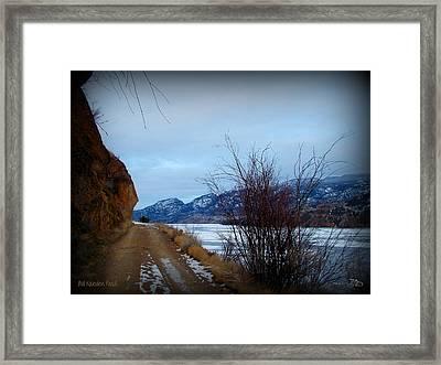 Old Kaleden Road 03-02-2014 Framed Print