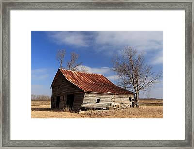 Old Kansas Barn Framed Print by Christopher McKenzie