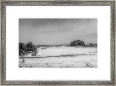 Old Kansas Farm Framed Print
