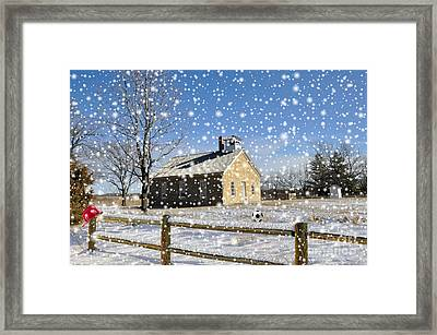 Old Kansas Schoolhouse Framed Print by Liane Wright