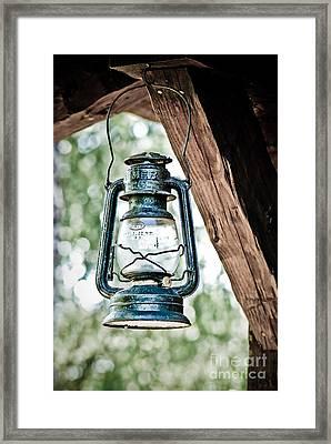 Old Kerosene Lantern. Framed Print