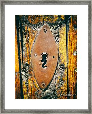 Old Key Hole Framed Print by Nicola Fiscarelli